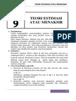 Estimasi Statistik Modul-9