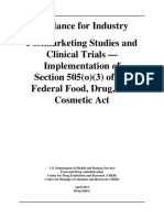 FDA Guidance PMS and Clinical Trials
