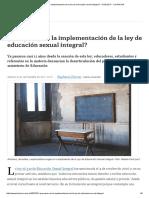 ¿Qué Pasa Con La Implementación de La Ley de Educación Sexual Integral_ - 01.09