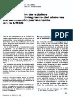 ONUCHKIN y TONKONOGALA - Educación Adultos y Permanente URSS (Perspectivas VIII.2, 1978)