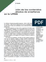 KACHIN - Renovación Contenidos y Métodos Enseñanza URSS (Perspectivas VIII.1, 1978)