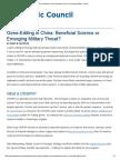 Gene-Editing in China