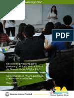 Ueicee 2017 Educacion Primaria Para Jovenes y Adultos en Caba