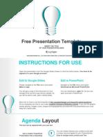 Abstract Paper Idea Bulb Google Slides Presentation