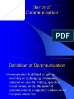 Basics of Communication