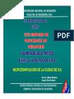 Microzonificación de La Ciudad de Ica