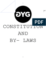GYG PROJECT CONSTITUTION AND BY - LAWS
