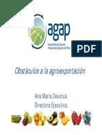 Obstaculos de La Agroexportación