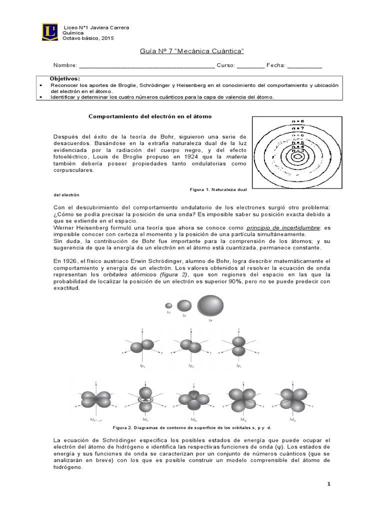 GUÍA N_7 Números cuánticos