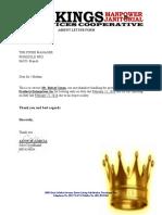 Absent Letter of Arnel