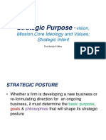 Strategic Posture -Company Vision Mission Valus