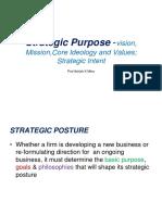 Strategic Posture -Company Vision Mission Valus