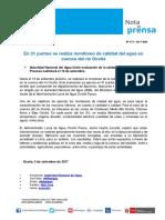 Nota de Prensa Nº 173-2017 - ALA OCOÑA PAUSA
