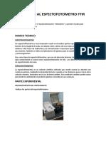 Ingreso Al Espectofotometro Ftir Informe 9