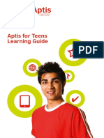 Cd4315 Aptis for Teens Learning Guide Europe Online f