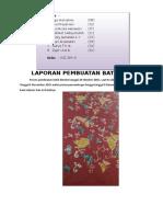 Laporan Pembuatan Batik Tulis