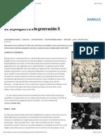 De la posguerra a la generación X | Edición impresa | EL PAÍS