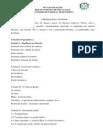 Ementas PPC- Antigo e Vigente