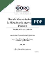 Plan de Mantenimiento de La Maquina de Inyección
