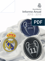 Real Madrid. Informe Anual 2015-16