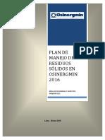 Plan Manejo Residuos Solidos 2016
