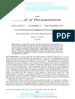 Metatheory and Information Sciencie