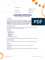 Ficha Tecnica - Canfora Sintetica