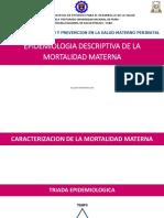 Epidemiologia Descriptiva de La Mortalidad Materna