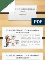 Derecho y Arbitrariedad Clase 1