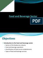 F&B Service Industry & Scope