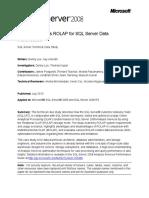 Ssas Rolap for SQL Server