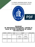 Procedura de Admitere - Licenta 2017