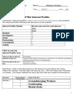 onet assessments worksheet