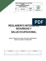 Reglamento Interno de Seguridad
