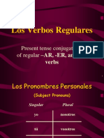verbs in the present tense