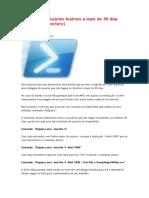 Listagem de Usuários Inativos a Mais de 90 Dias - Active Directory