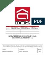 19. Procedimiento de Aplicacion de Acido Muriatico MNK