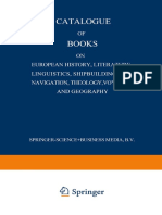 Auth. Catalogue of Books on European History, Literature, Linguistics, Shipbuilding and Navigation, Theology, Voyages and Geography