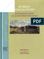 Introduccion a La Fenomenología Robert Sokolowski
