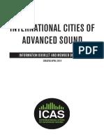 ICAS. INTERNATIONAL CITIES OF ADVANCED SOUND