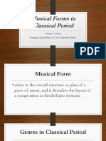 Musical Forms in Classical Period