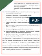 Código de Ética de La Fuerza Armada Nacional Bolivariana