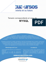 MySql Ecuacursos