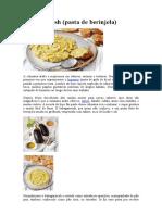 Babaganoush - Pasta de Berinjela