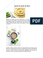 Hummus - Pasta de Grão de Bico