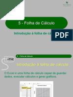 5 - Introdução à Folha de Cálculo
