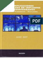 Complicaciones y Fracasos en Implantes Osteointegrados - Bert