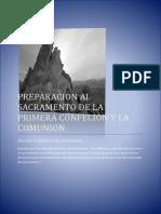 Preparacion Al Sacramento de La Primera Confecion y La Comunion