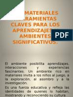Los Materiales y Ambientes de Aprendizajes.