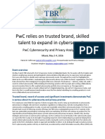 Tbr Perspective Pwc Cybersecurity and Privacy Analyst Day